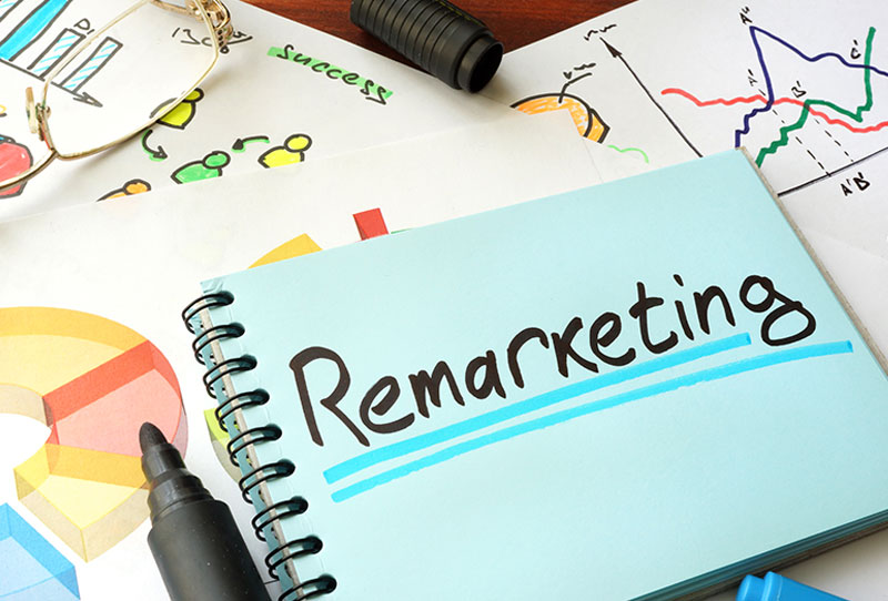 a notebook that says Remarketing